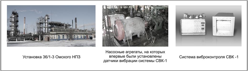 Система виброконтроля, впервые внедренная на Омском НПЗ в октябре 1990 года