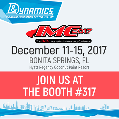 Visit our booth #317 at the IMC-2017, the 32nd International Maintenance Conference