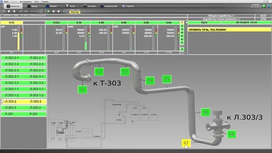 Экран системы акустико-эмиссионного мониторинга КОМПАКС-АЭ